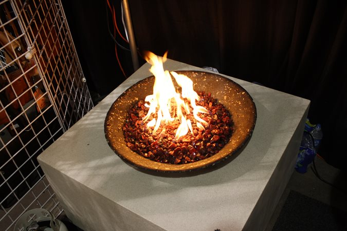 Fire Cube, Bowl, Lava Rock Site Living Stone Concrete Design Candler, NC