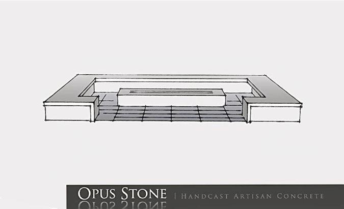 Fire Pit Design Sketch Site Opus Concrete Santa Ana, CA