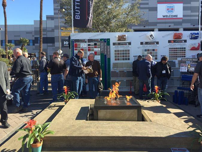 Fire Pit, World Of Concrete, Butterfield Colors Site ConcreteNetwork.com