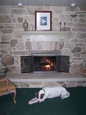 Fireplace, Vertical Site Custom DesignCrete, Inc Crescent, PA