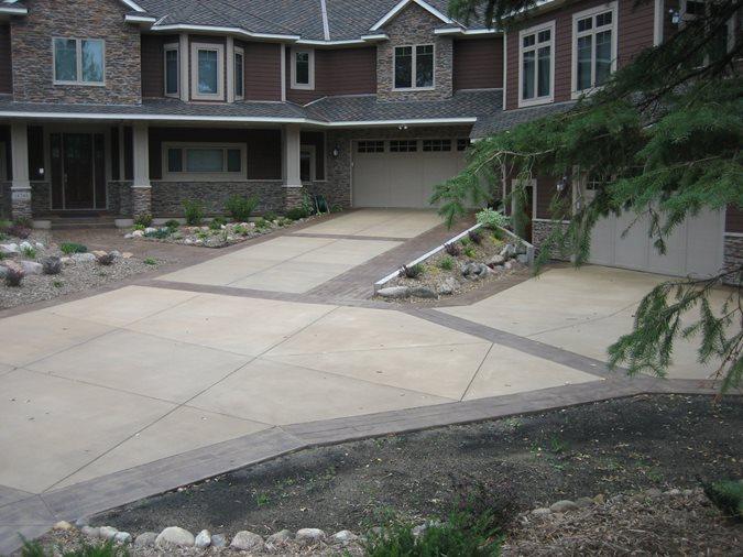 Forked Driveway Site Allstate Decorative Concrete Cokato, MN