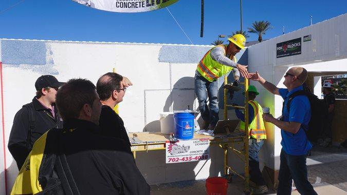 Fox Blocks, Icfs Site Concrete Decor Show