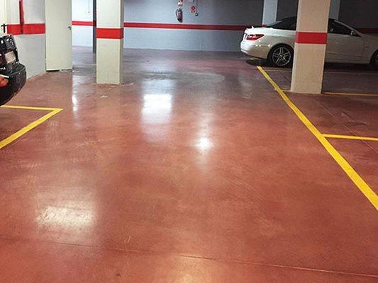 Garage, Stained, Red Site Heidelberg Construction, LLC Bethesda, MD