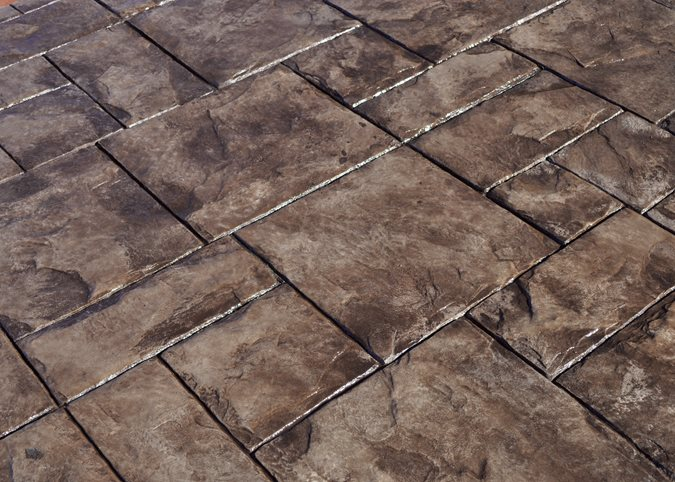 Grand Ashlar Pattern, Stamped Concrete Site Brickform Rialto, CA