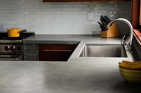 Gray Countertop Site Concrete Wave Design Anaheim, CA