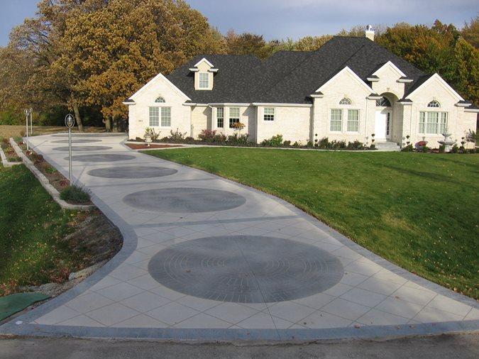 Grey Brick Site Concrete Illusions Inc Kankakee, IL