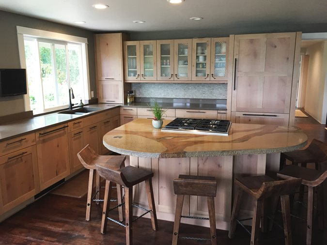 Kitchen Countertop Site Absolute ConcreteWorks Port Townsend, WA