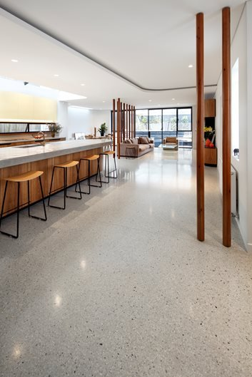 Kitchen Floor, Floor Overlay Site Honestone Tuggerah, New South Wales