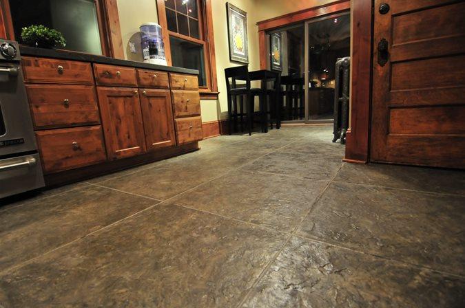 Kitchen, Textured, Floors, Brown Site Urban Concrete Works Richfield, MN