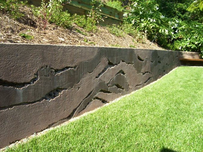 Layers, Concrete Wall Site Ron Odell's Custom Concrete Woodland Hills, CA