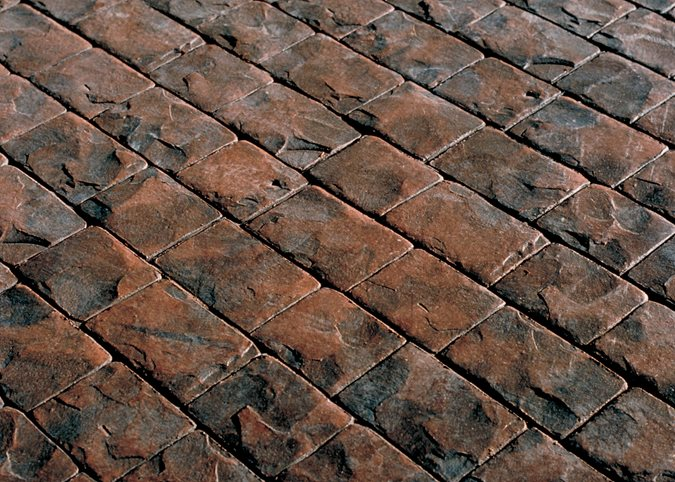 London Cobble, Stamp Pattern Site Brickform Rialto, CA