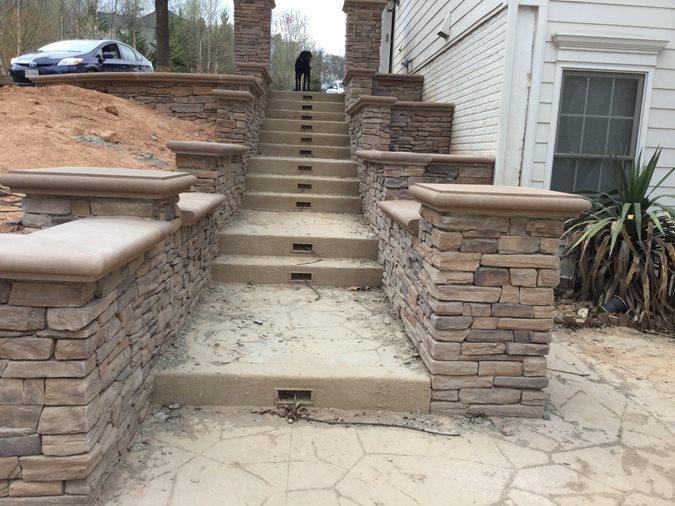 Low Voltage, Stair Lighting Site Greystone Masonry Inc Stafford, VA