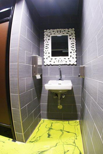 Metallic Bathroom Floor Site A-Plus Concrete Construction Fresno, CA