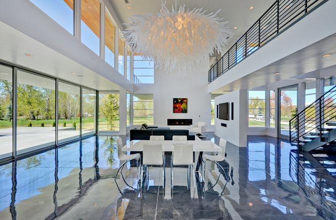 Modern Great Room, Concrete Floor Coating Site Westcoat San Diego, CA