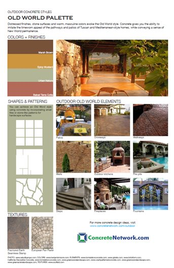 Old-World Design Style Site ConcreteNetwork.com ,