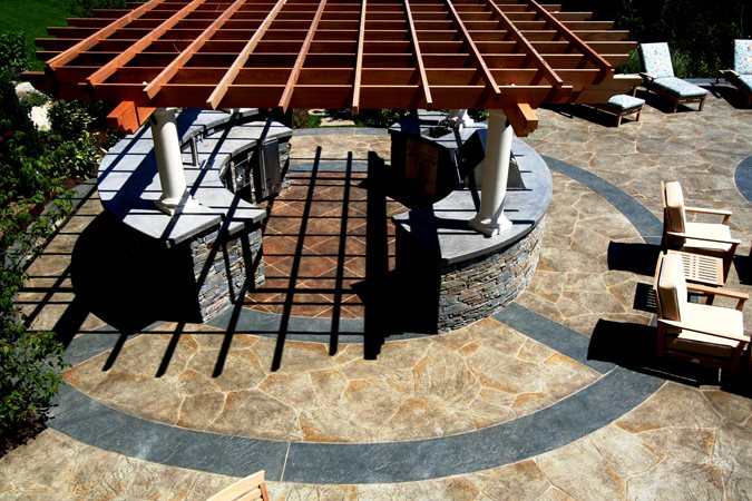 Outdoor Concrete Site New England Hardscapes Inc Acton, MA