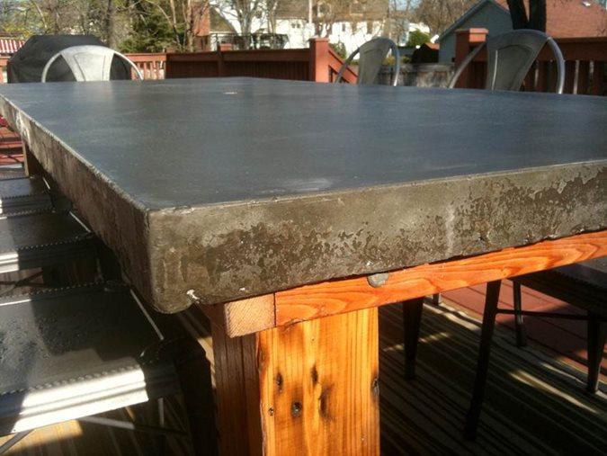 Outdoor Concrete Table Site Kerr Concrete Evanston, IL