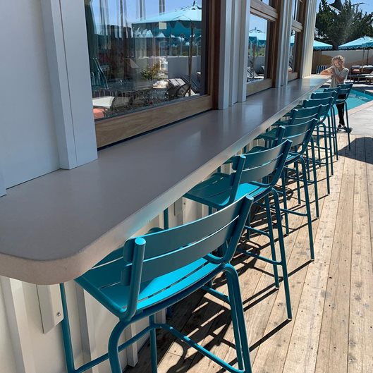 Outdoor Counter, Boutique Hotel Site Concast Studios Oceano, CA