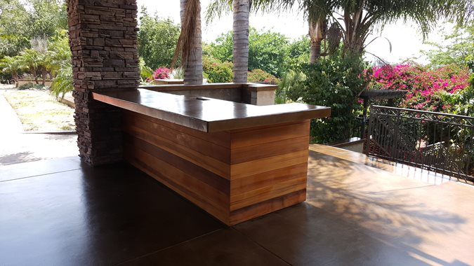 Outdoor Counter, Concrete Site Envision Concrete Escondido, CA