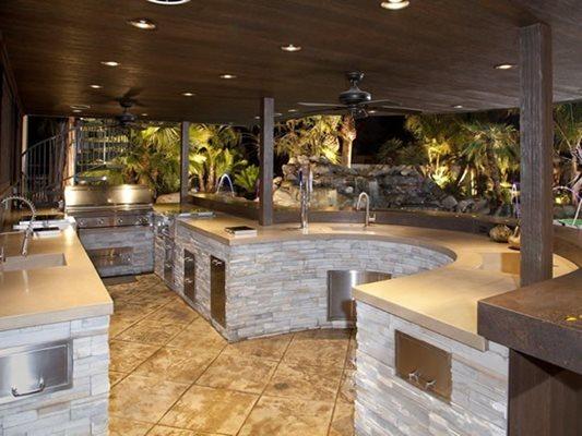 Outdoor, Kitchen Site Flying Turtle Cast Concrete Modesto, CA