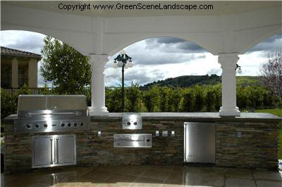 Outdoor Kitchen Picture Site The Green Scene Chatsworth, CA