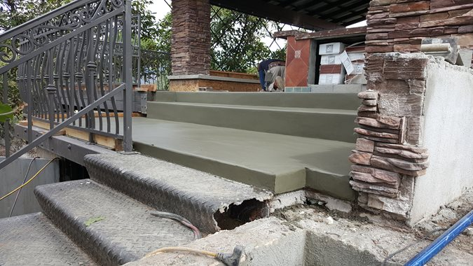 Outdoor Overlay, Stairs Site Envision Concrete Escondido, CA