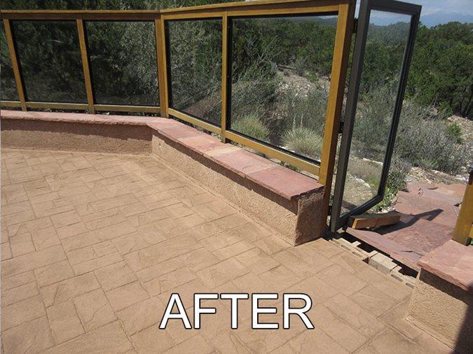 Patio After, Tinted Concrete Sealer Site Stone Technologies, Corp. Cleveland, TN