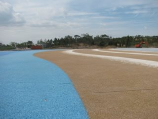Pervious Concrete, China, Beach Site Bomanite Group International ,