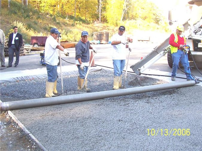 Pervious Concrete Placement Site ConcreteNetwork.com ,