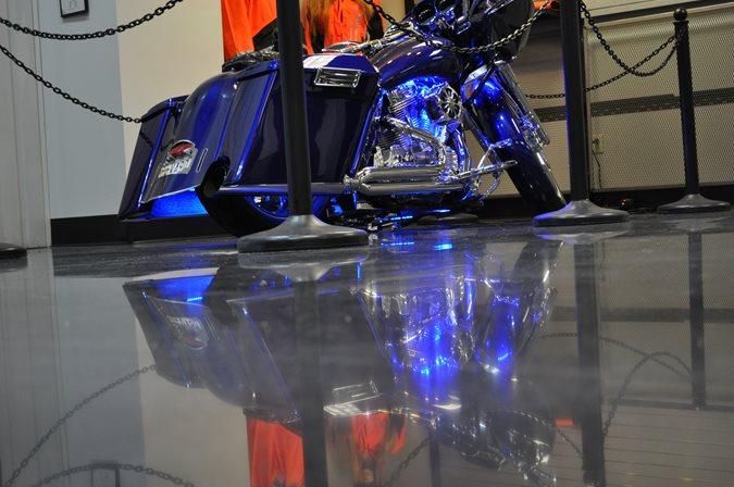 Polished Concrete, Motorcycle Dealership Site Dreamkrete Richmond, VA