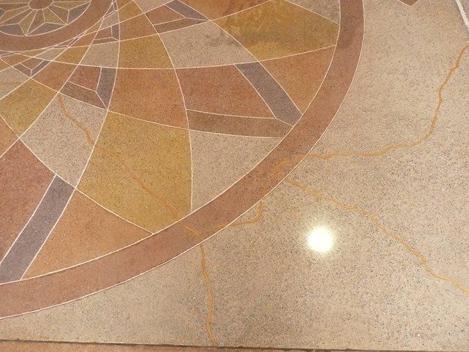 Polished Floor, Metallic Cracks Site Decorative Concrete Institute Temple, GA