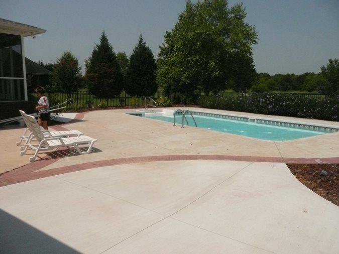Pool Area Before Site Decorative Concrete Institute Temple, GA