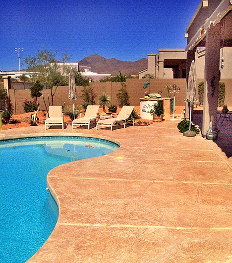 Pool Deck, Smith Paints Overlay Site Artistic Polymers Inc. ,