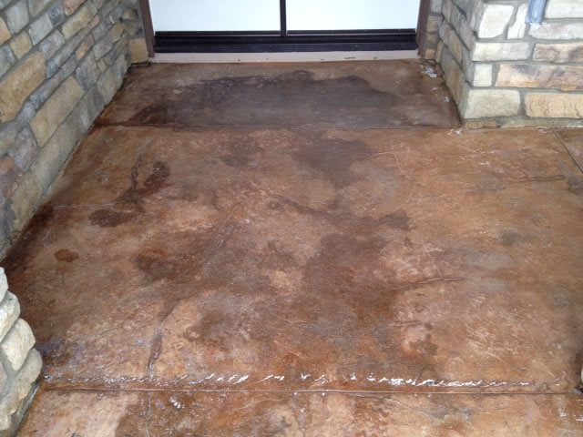 Porch Before Site KB Concrete Staining Norco, CA