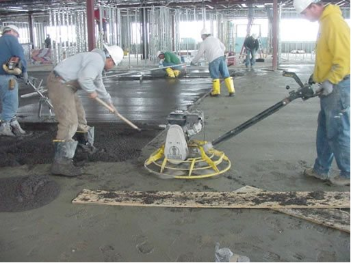 Pouring Concrete Site Stephens and Smith Construction Lincoln, NE