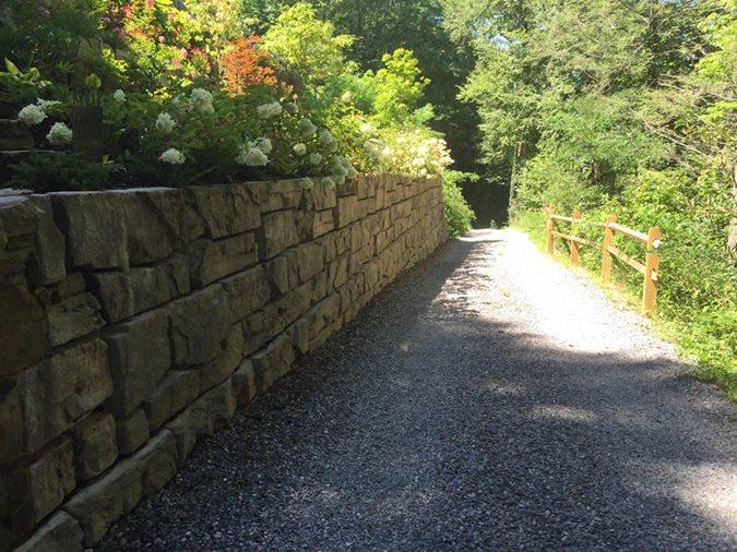 Precast Concrete Wall, Custom Formliners, Scofield Award Site Carolina Ready Mix Swannanoa, NC