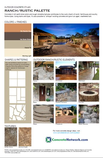 Ranch-Rustic Design Style Site ConcreteNetwork.com ,