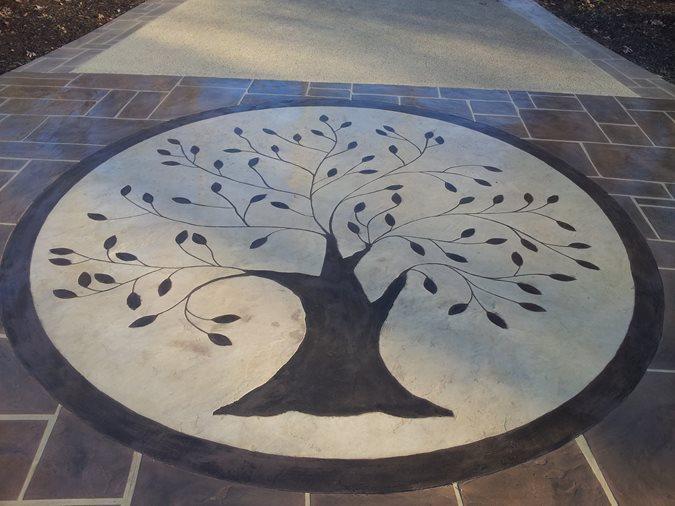 Random Stone Pattern, Engraving Site Champney Concrete Finishing Lynchburg, VA