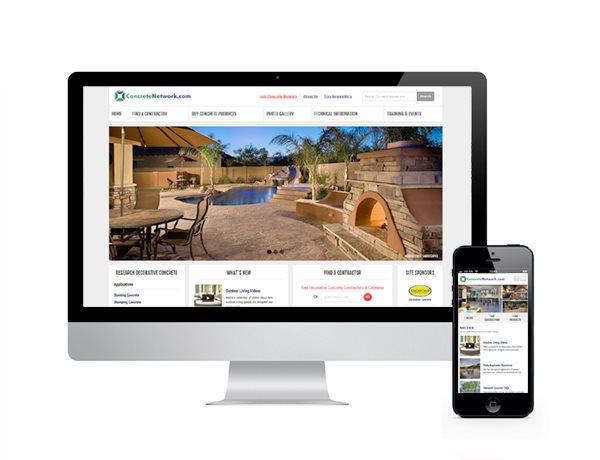 Responsive Website Site ConcreteNetwork.com