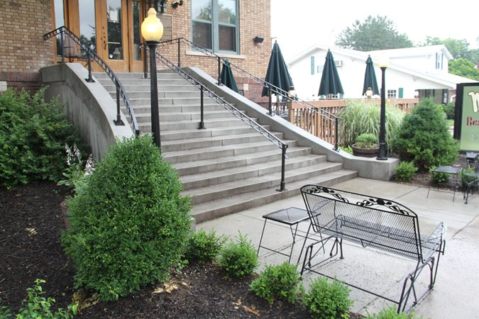Restaurant, Stairs, Railing Site Mattingly Concrete Indianapolis, IN