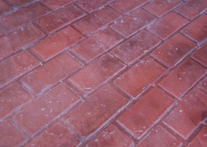 Running Bond Brick, Stamped Concrete Site Brickform Rialto, CA