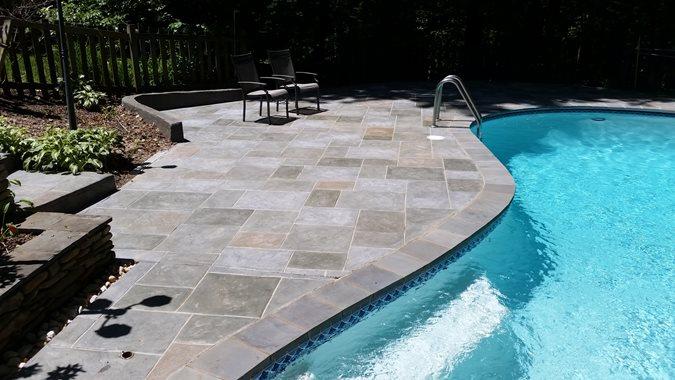 Salzano Custom Concrete, Faux Bluestone, Pool Deck Site Salzano Custom Concrete Aldie, VA