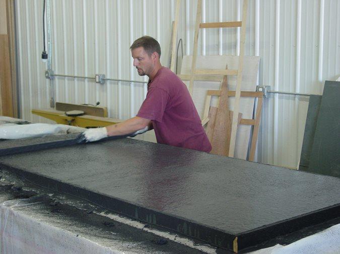 Screeding Concrete Countertop Site Nobel Concrete Jenison, MI