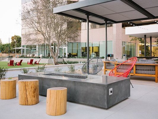 Seating, Firepit, Concrete Site Hart Concrete Design Costa Mesa, CA