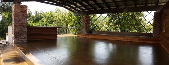 Stained Concrete, Concrete Overlay, Outdoor Site Envision Concrete Escondido, CA