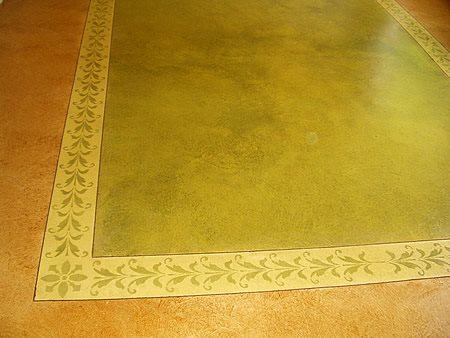 Stained, Stencil Site Concrete Polishing  by JL Designs Simi Valley, CA