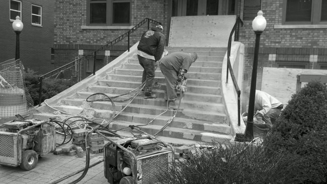 Stairs, Cutting Site Mattingly Concrete Indianapolis, IN