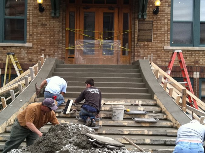 Stairs, Resurfacing Site Mattingly Concrete Indianapolis, IN