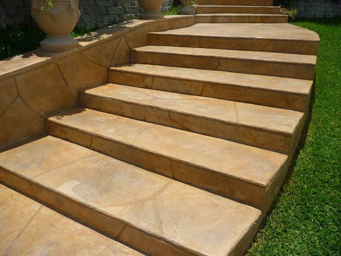 Stairs, Stamped, Walkway Site Stamped Artistry Pasadena, TX