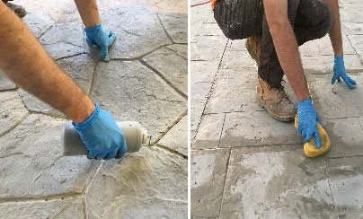 Stamped Concrete Tiles, Stamped Tile Installation Site StoneCrete Systems Orem, UT